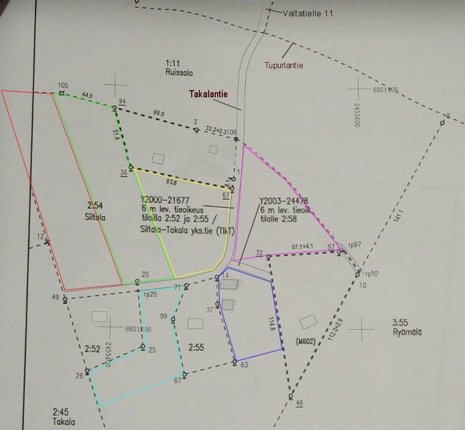 Kartta Tontin Rajat Kartta